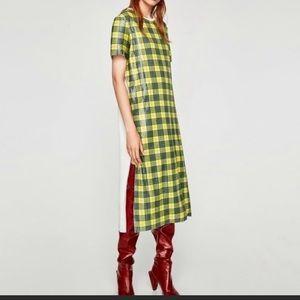 Zara sequin plaid blogger dress-NWT